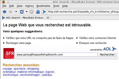 SFR AOL DNS hijacking