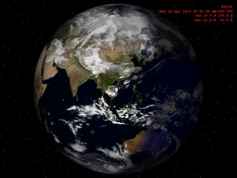 Image de la terre 800x600